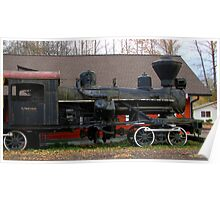 OLD STEAM TRAIN IN ELBE WASHINGTON Poster