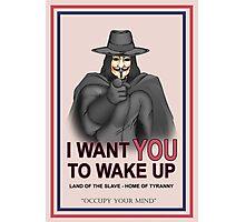 """V For Vendetta """"Wake Up"""" Photographic Print"""