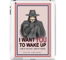 "V For Vendetta ""Wake Up"" iPad Case/Skin"