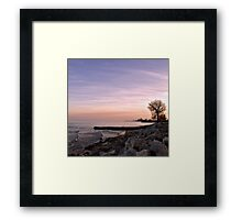 she sits on the rocks and she dreams... Framed Print