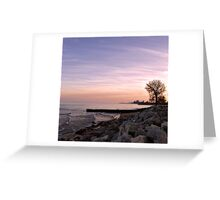 she sits on the rocks and she dreams... Greeting Card