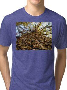 Tree bark macro Tri-blend T-Shirt