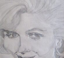 Marilyn Monroe portrait by karenuk1969