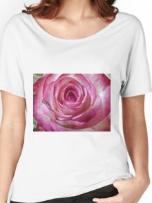 Pink rose close up 2 Women's Relaxed Fit T-Shirt