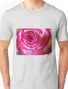 Pink rose close up 3 Unisex T-Shirt