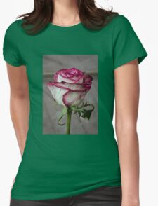Pink rose 2 Womens Fitted T-Shirt