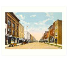 Downtown Ann Arbor, MI Main Street at Liberty, 1910 Art Print