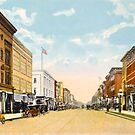 Downtown Ann Arbor, MI Main Street at Liberty, 1910 by Bob Fox