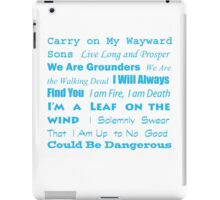 Multi Fandom Anthem iPad Case/Skin