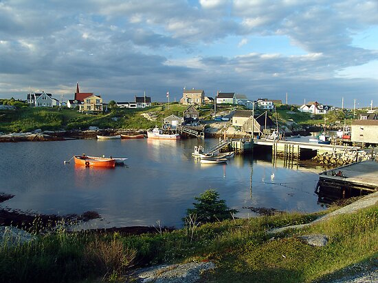 Peggy's Cove evening by George Cousins