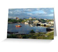 Peggy's Cove evening Greeting Card