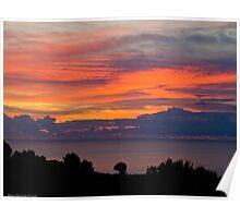 A fiery sunrise Poster