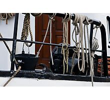 Cords and boat Photographic Print