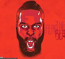 "James Harden ""Fear The Beard"" by nbadesigns"