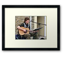 Entertaining The People Of Bridport Framed Print