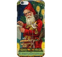Merry Christmas Vintage -Available As Art Prints-Mugs,Cases,Duvets,T Shirts,Stickers,etc iPhone Case/Skin