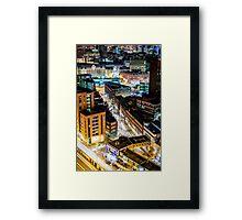 Birmingham City Glow Framed Print