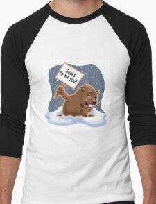 Punxy Phil Men's Baseball ¾ T-Shirt