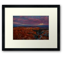 Sunset Over Bryce Canyon Framed Print