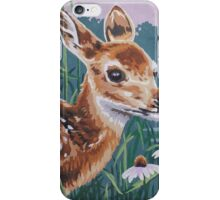 Fawn Baby Deer Painting Prints  iPhone Case/Skin