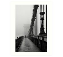 Chain Bridge Art Print
