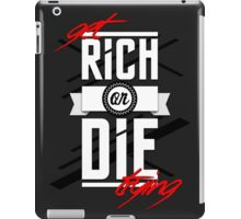 Get Rich or Die Trying iPad Case/Skin