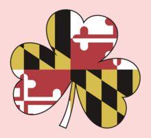 Maryland Flag Four Leaf Clover Kids Clothes