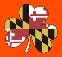 Maryland Flag Four Leaf Clover Kids Clothes
