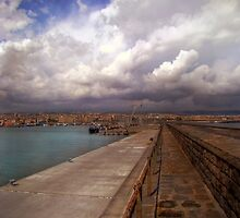 Clouds at the port  by Andrea Rapisarda