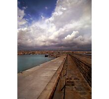 Clouds at the port  Photographic Print