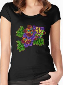 Henna Tulip Women's Fitted Scoop T-Shirt