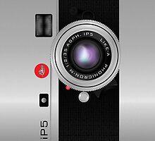 Like-a-Leica Camera (Silver) iPhone Case by Alisdair Binning