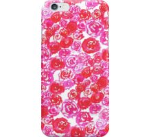 Bed of Roses - hand-painted watercolour iPhone Case/Skin