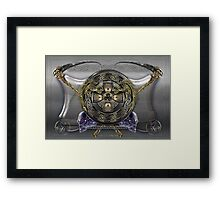 Digital Art Ankou Shield  Framed Print