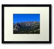Italian Mountains Framed Print