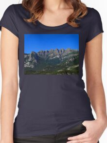 Italian Mountains Women's Fitted Scoop T-Shirt