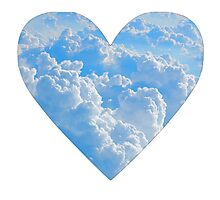 Cloud Heart Photographic Print