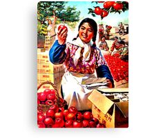 GROW MORE AND BETTER FRUIT Canvas Print