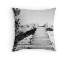 hamptons boardwalk Throw Pillow