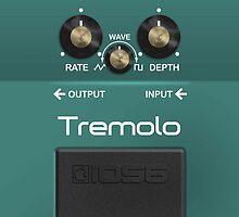 Boss Tremolo Pedal iPhone Case by Alisdair Binning