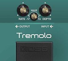 Boss Tremolo Pedal iPhone Case by abinning