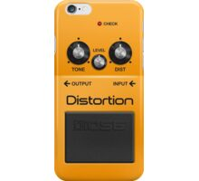 Boss Distortion Pedal iPhone Case iPhone Case/Skin