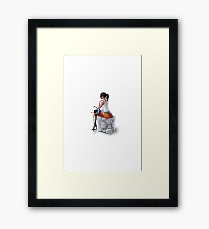 Sitting On The Friend Framed Print