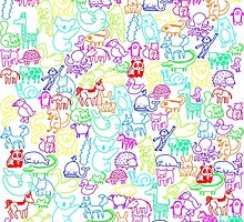 Animal Parade by hippopotami