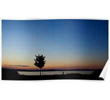 Sunset Lake Balaton Poster