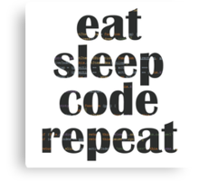 eat sleep code Canvas Print