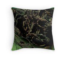 abstract sax keywork Throw Pillow