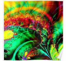 Colorful fractal journey Poster