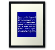 Multi-Fandom Anthem Framed Print