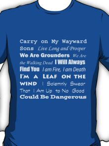Multi-Fandom Anthem T-Shirt